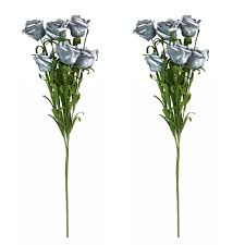 <b>2 Pcs</b> 6 Head Artificial Flower Fake <b>Rose Simulation</b> Flowers for ...