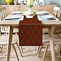 Table Runner <b>Christmas Theme</b> Classic Red Plaid Pattern - Durable ...