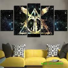 Harry Potter Deathly Hallows Logo, <b>5 Pieces HD</b> Canvas <b>Print</b> Home ...