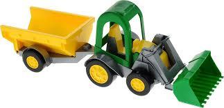 Машинка <b>Тигрес Трактор</b>-багги, с ковшом и прицепом, 3871599 ...