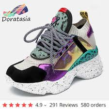 <b>DORATASIA INS Hot</b> Sale Buckle Strap Dad Shoes Woman lace up ...