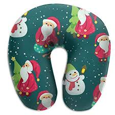 Amazon.com: <b>SARA NELL</b> Memory Foam Neck Pillow Christmas ...
