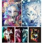 Sale <b>5D DIY Diamond</b> Painting Animals Wolf Cross Stitch Kit Full ...
