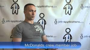 mcdonalds interview crew member mcdonalds interview crew member