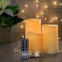 «<b>Koopman Набор</b> восковых светильников <b>свечей</b> Восторг 3 шт с ...