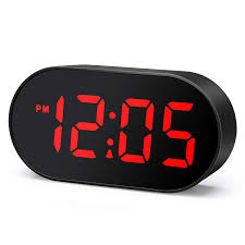 Plumeet <b>LED Alarm Clocks</b> Digital Clock with Dimmer and Snooze ...