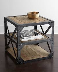 industrial wooden nightstand once again wooden and metal works perfectly when combined inspired build industrial furniture