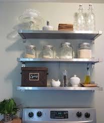 trendy stainless steel shelves