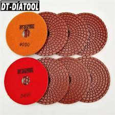DT DIATOOL <b>8pcs</b> Diameter 100mm Polish Disc <b>Diamond</b> polishing ...