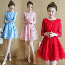 <b>Summer Autumn</b> Lace Dress <b>2019 Korean</b> Mori Girl Mini Vestidos ...