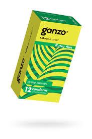 <b>Презервативы Ganzo Ultra</b> thin, ультратонкие, латекс, 18 см, 12 шт