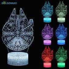 <b>3D Star Wars</b> Millennium Falcon <b>LED</b> Originality Night Lights ...