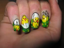easter nails art chicken