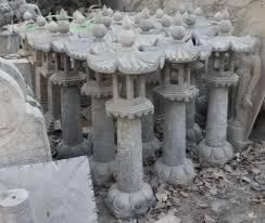 Stone Garden Statue <b>Asian Style</b> Outdoor Pagoda Lamp or Lantern ...