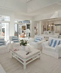 beach colors chic bright and airy living room in all white furniture and little blue in details beach house furniture decor