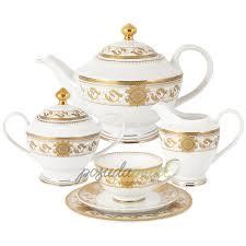 Фарфоровый <b>чайный сервиз</b> на 6 персон 23 предмета белый ...