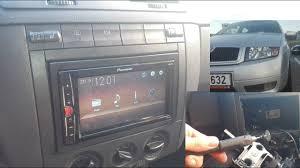 Fabia 2din rádio <b>PIONEER MVH A100V</b> video za jízdy - YouTube