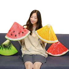 <b>Creative simulation fruits</b> sponge stuffed <b>watermelon</b> kiwi cushion ...