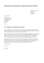 sample resigning letter  seangarrette coresignation letter sample for a secondary school teacher    sample resigning letter