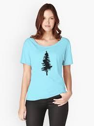 """Plain <b>Black Tree</b>   Doug Fir/Pine/Evergreen"" <b>Women's</b> Relaxed Fit <b>T</b> ..."