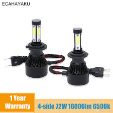 Pair 9006 HB4 <b>Car LED Headlight</b> Bulbs Conversion COB kit 6500K ...