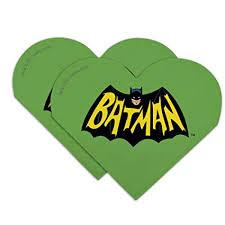 Batman Classic TV <b>Series</b> Logo Heart Faux <b>Leather Bookmark</b> - Set ...