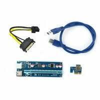 «райзер с разъемами PCI-E PCI <b>Riser Card</b> 1x to 16x USB 3.0 ...