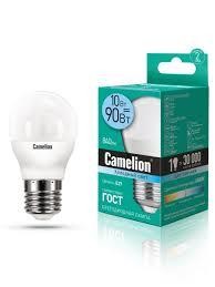 Светодиодная <b>лампочка</b> LED <b>10W</b> 4500К <b>E27 Camelion</b> 8566034 ...