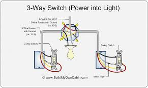 way switch wiring diagram  way switch diagram  power into light