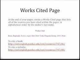 an introduction to mla citing sources using the mla style guide  works cited page at the end of your paper create a works cited page that