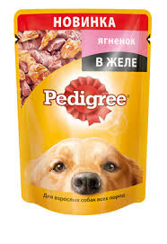<b>Pedigree паучи</b> для собак ягненок в желе