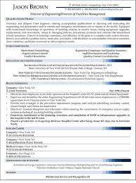 facilities  amp  management resume samplesresume samples for management and facilities jobs
