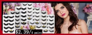 SHIDISHANGPIN 5 <b>pairs eyelashes 3d</b> mink <b>lashes</b> natural soft <b>1</b> ...