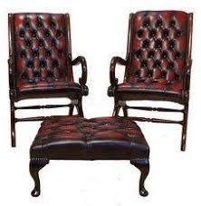 Designer Sofas4u Chesterfield Offer Pair York <b>Slipper</b> Leather <b>Chair</b> ...