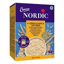 <b>Хлопья Nordic</b> (<b>Нордик</b>) 4 злака с овсяными отрубями, с 12 мес ...