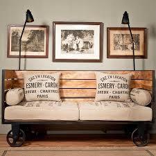 industrial chic vintage trolley sofa on wheels vintage industrial style chic industrial furniture