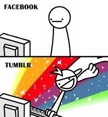 Facebook vs Tumblr - Memes Comix Funny Pix via Relatably.com