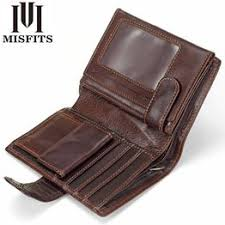 MISFITS Vintage Men Wallet Genuine Leather Short Wallets ... - Vova