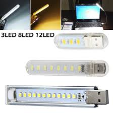3/8/12LED USB LED <b>Flashlight Work</b> Light <b>Portable</b> LED Torch ...