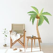 palm tree wall stickers:  one palm tree removable wall decal