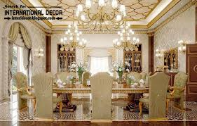 luxurious dining room interiors in palace style decor furniture in style