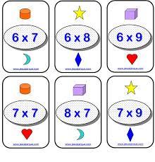Resultado de imagen de tablas multiplicar