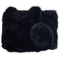 piece bath rug set mat lavish home  piece super plush non slip bath mat rug set walmartcom