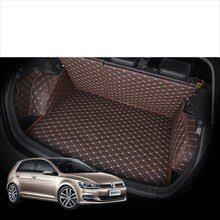 custom fit <b>pu leather car</b> trunk mat for volkswagen golf mk7 2012 ...