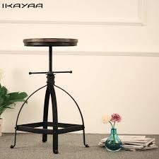 <b>iKayaa Industrial</b> Style Cast Iron Tractor Seat <b>Bar</b> Stool Adjustable ...