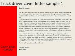 truck driver cover letter   truck driver cover letter sample