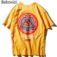 <b>Bebovizi Brand</b> Men Hip Hop Geometry Triangle T Shirts illuminati ...