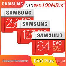 <b>Original SAMSUNG EVO</b> Plus <b>memory</b> card 64GB 128GB Micro sd tf ...