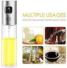 <b>Oil Sprayer</b> Dispenser,304 <b>Stainless Steel</b> Grilling Olive Oil Glass ...
