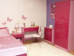 minimalist decorating ideas for teen girl bedrooms with butterfly sticker on wall and showing off high bedroom furniture sticker style